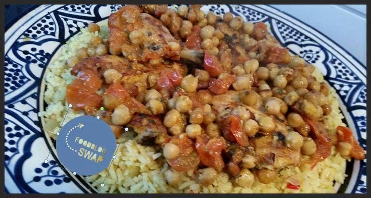 Ellouisa: Kip met kikkererwten en gekruide rijst (foodblogsw...