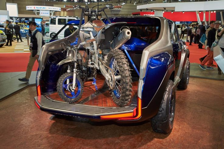 Yamaha's Cross Hub Concept is a compact pickup truck that carries recreational gear in back and...