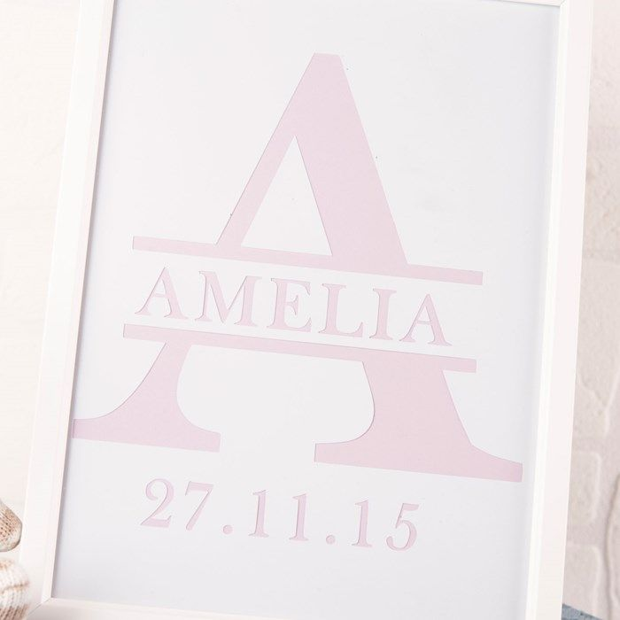 Personalised Papercut Letter Name Framed Print | GettingPersonal.co.uk