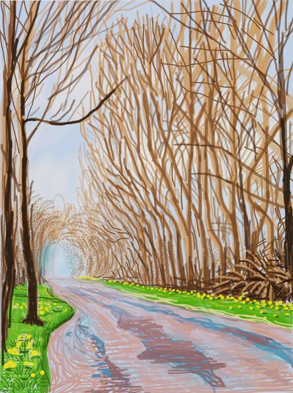 The Arrival of Spring: iPad Drawings by David Hockney