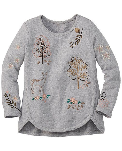 Embroidered Linnea Sweatshirt from #HannaAndersson.
