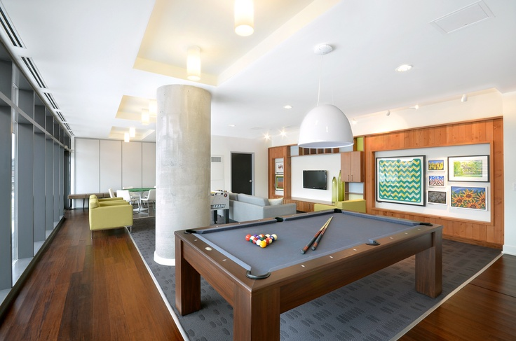 The games room in the Paintbox Condominiums.