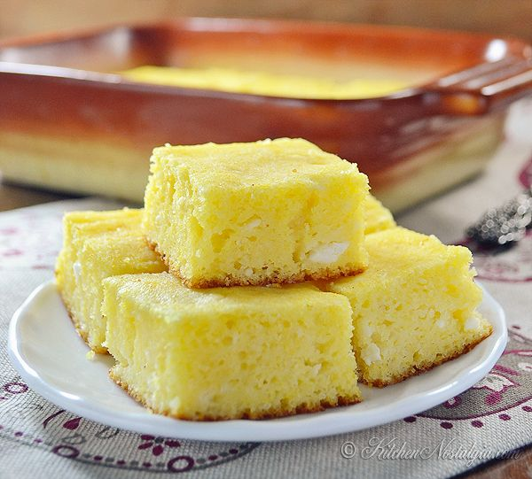Zlevanka - sweet cottage cheese cornbread from Croatia - kitchennostalgia.com