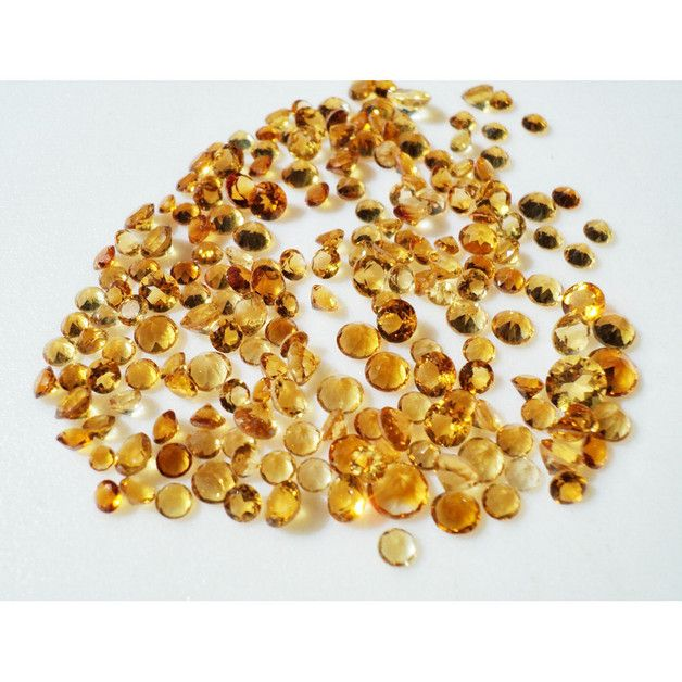 This listing is for Citrine Cabochons, Faceted Cabochons, Calibrated Citrine, 5mm Each - 10 Pieces.        Gemstone: Citrine Calibrated    Size (mm): 5mm    Weight: 10Pcs    Color: Yellow...