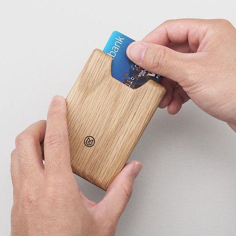 Union Wallet in Oak