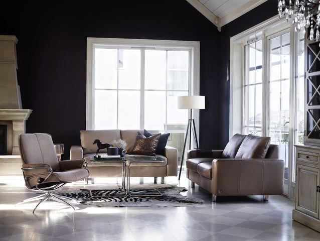 Die besten 25+ Stressless sofa Ideen auf Pinterest Stressless - wohnzimmer mit brauner couch