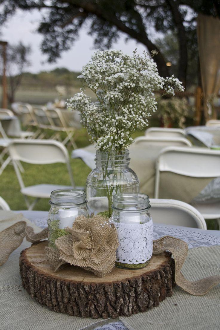 Great Wedding Centerpiece. Rustic Centerpiece WeddingWood CenterpiecesReception  Table ...