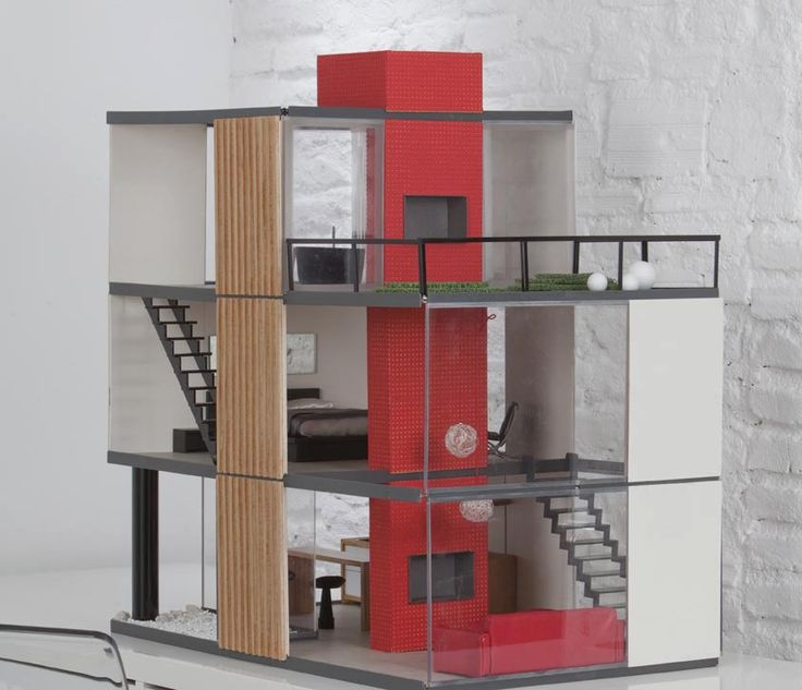 413 Best Images About Miniature Modern Dollhouses On Pinterest