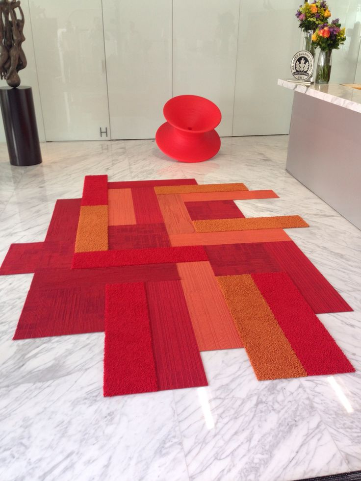 Interface - Great area rug with planks and squares