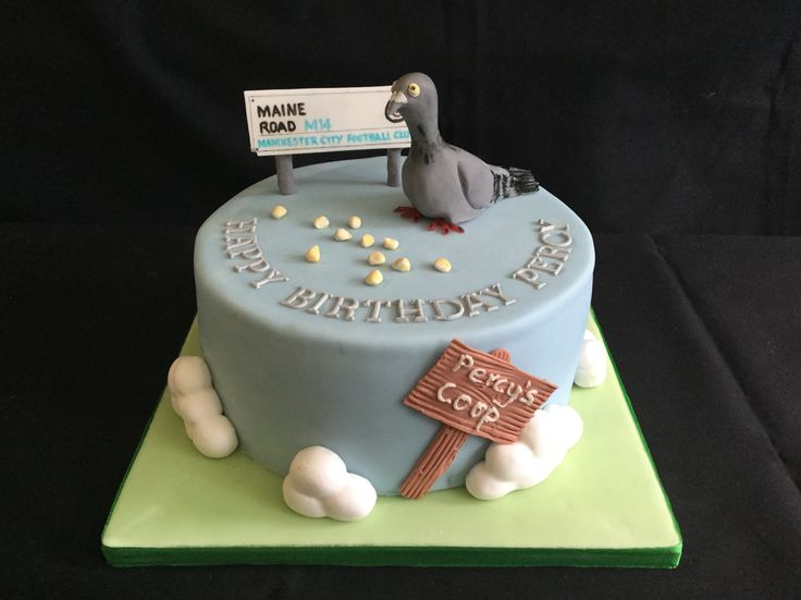 Racing Pigeon Cake Toppers