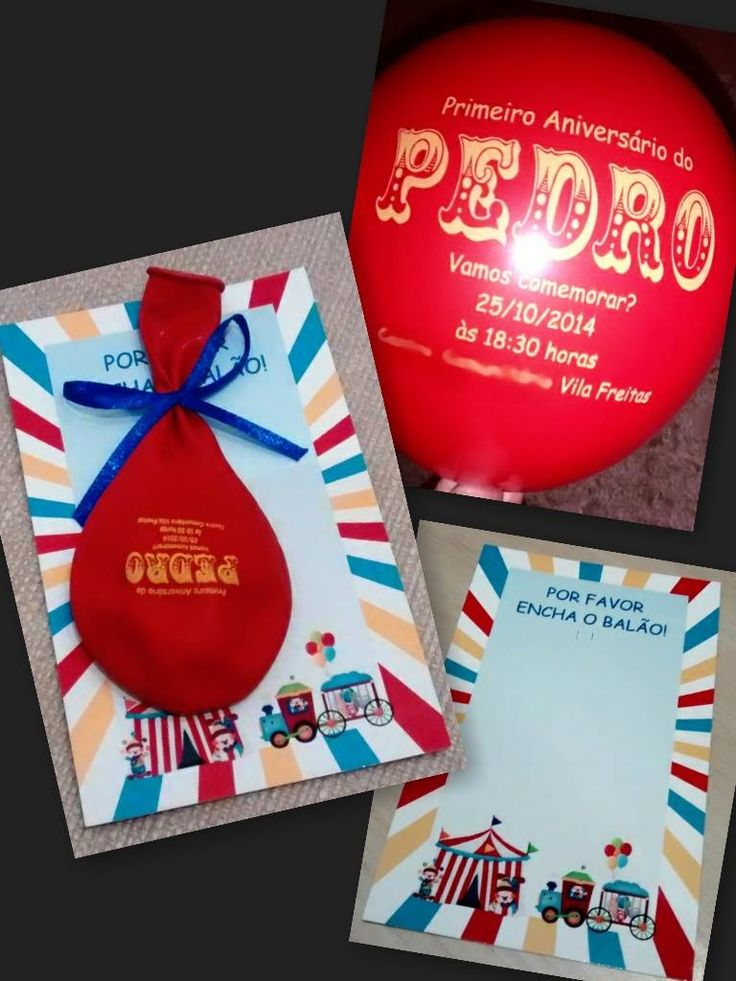 Ideia para você fazer um convite criativo usando o balão que ao inflar revela as informações da festa. Passo a Passo de como fazer