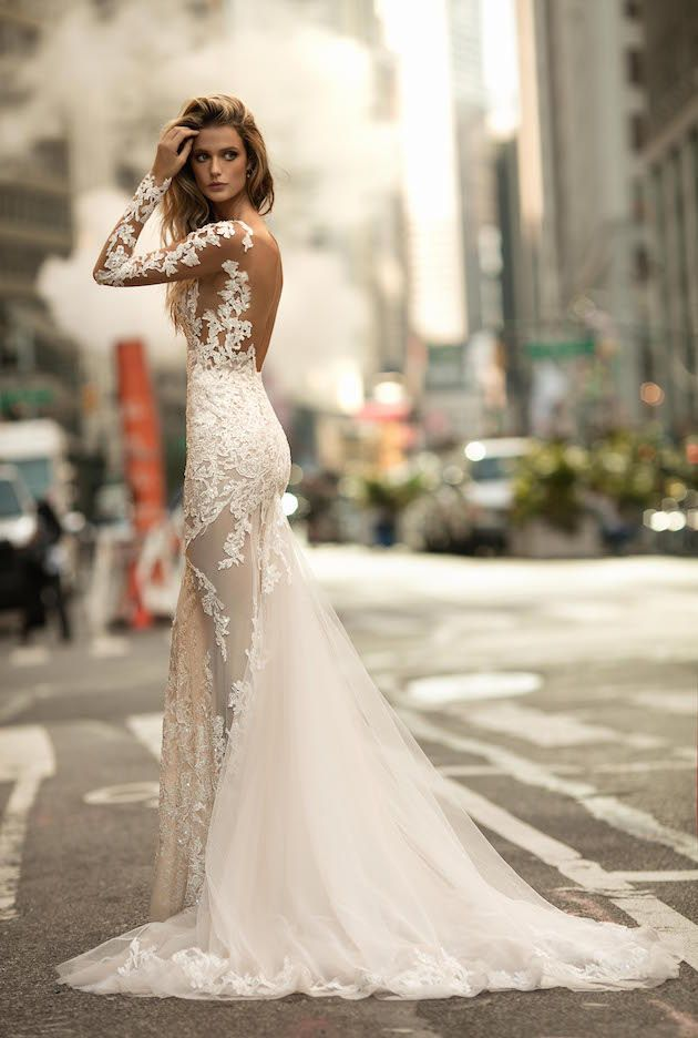 Simple Berta Wedding Dress Collection Fall