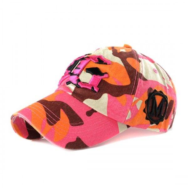Embroiderd YG Logo Camo Pink Baseball Cap