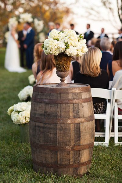 ceremony marker with an old barrel | Honey Heart Photography #wedding