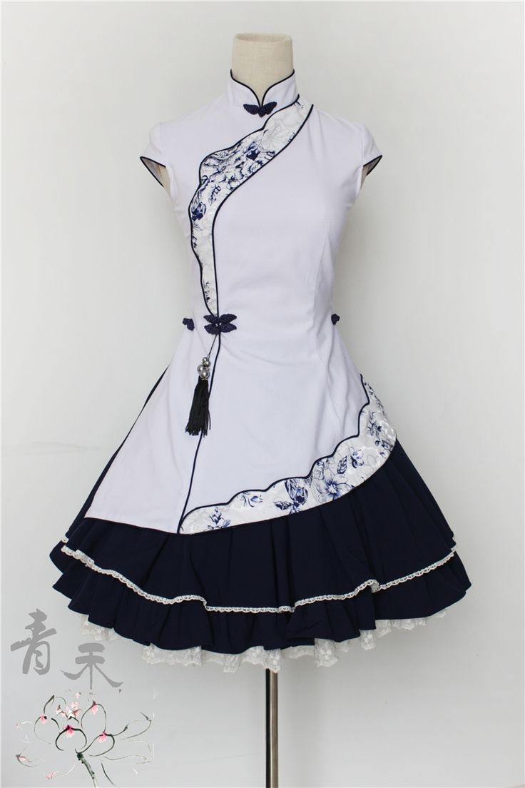 sort of a traditional/lolita/sailor combo. so cute