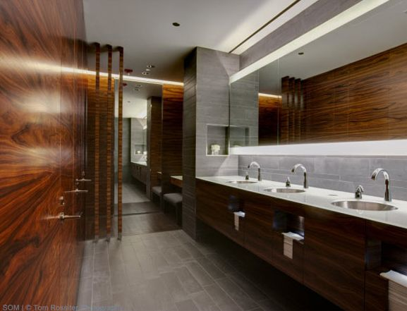 47 best images about commercial restrooms locker rooms on pinterest toilets lighted mirror - Office bathroom designs ...