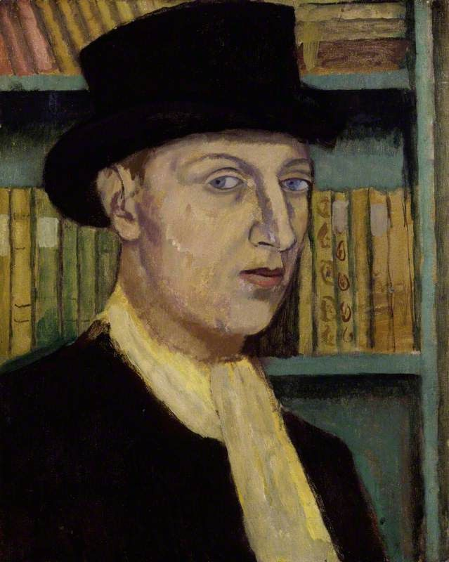 Sir (Francis) Osbert Sacheverell Sitwell, 5th Bt by Nina Hamnett. National Portrait Gallery, London.     Date painted: c.1918     Oil on canvas, 50.5 x 40.6 cm     Collection: National Portrait Gallery, London.
