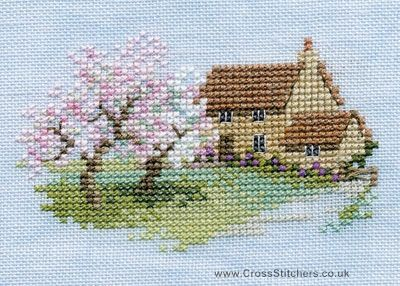 Free Cross Stitch Charts | Orchard Cottage - Minuets - Cross Stitch Kit from Derwentwater Designs