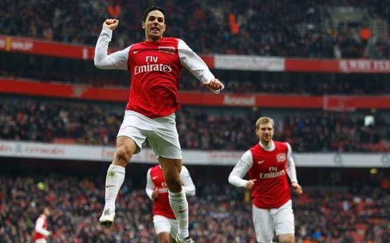 Mikel Arteta - Arsenal - Celebración