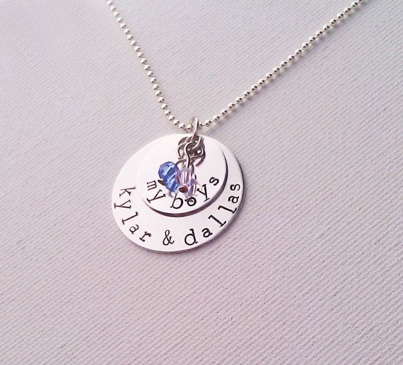 My Boys Necklace, Personalized Family Necklace with Kids Names and Birthstones, Custom Necklace for Mom of Boys - Family Necklace on Etsy, $27.00