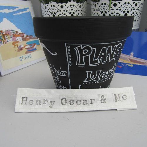 Product | Chalk Board Pen Pot | Henry, Oscar and Me