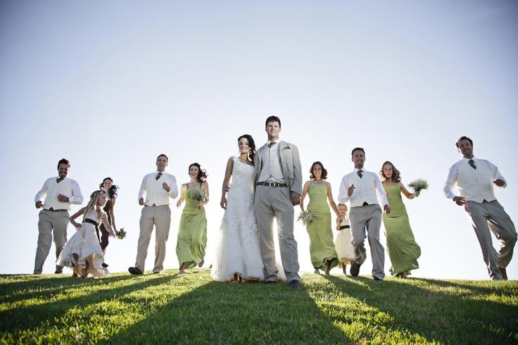Bridesmaids+Groomsmen. Photographer: Erika Turvey @ MakeBelievePhotography