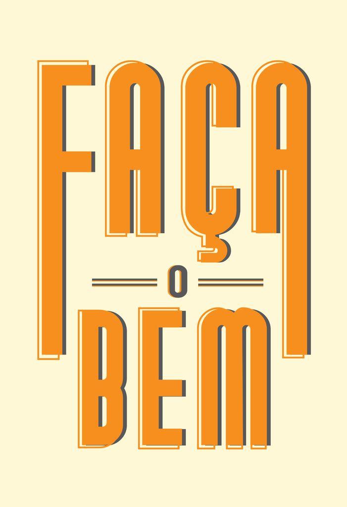 Poster Frase Faça o bem - Comprar em Decor10