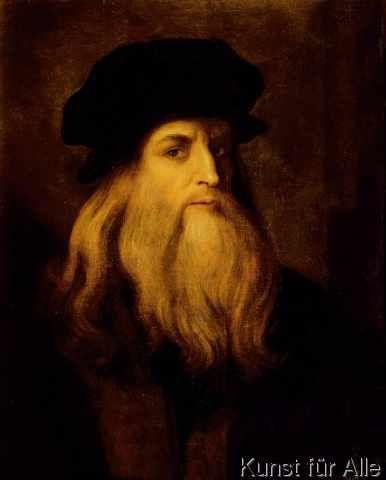 Anonymous Portrait Of A Man Presumed To Be Leonardo Da Vinci