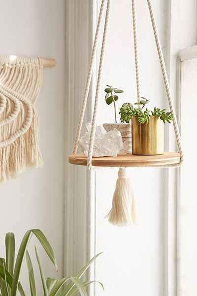"""Recycled Lovers Small Treasures Floating Shelf - Urban Outfitters $79. Rope length: 22"""" Base diameter: 9"""""""