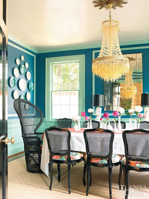 Now this is a fun dining room…via Atlanta Homes: