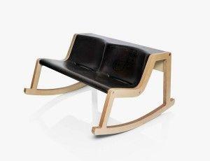Unique Rocking Bench with Modest Wood Frame - Rocker Bench Mustafa