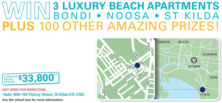 RSL Art Union Prize Home Lottery - Draw 335: WIN 3 LUXURY BEACH APARTMENTS + 100 OTHER AMAZING PRIZES
