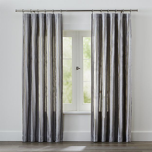 Curtains Ideas charcoal and cream curtains : 1000+ ideas about Grey Striped Curtains on Pinterest | Bedroom ...