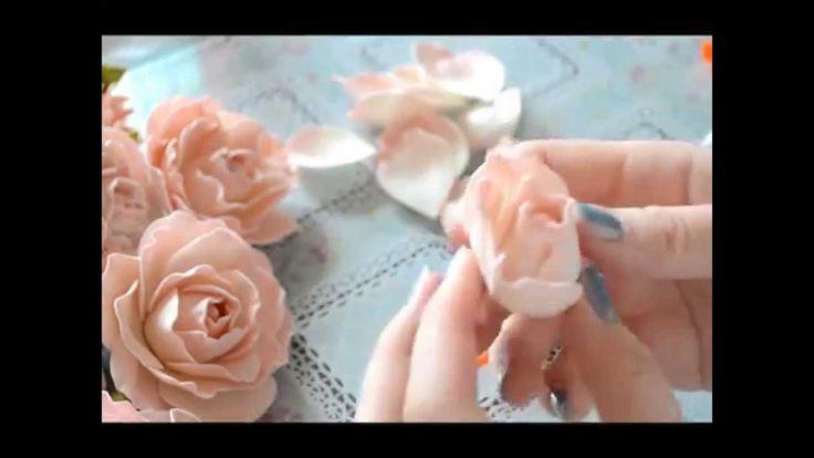 Нежная роза из фоамирана мастер класс / Foam tutorial