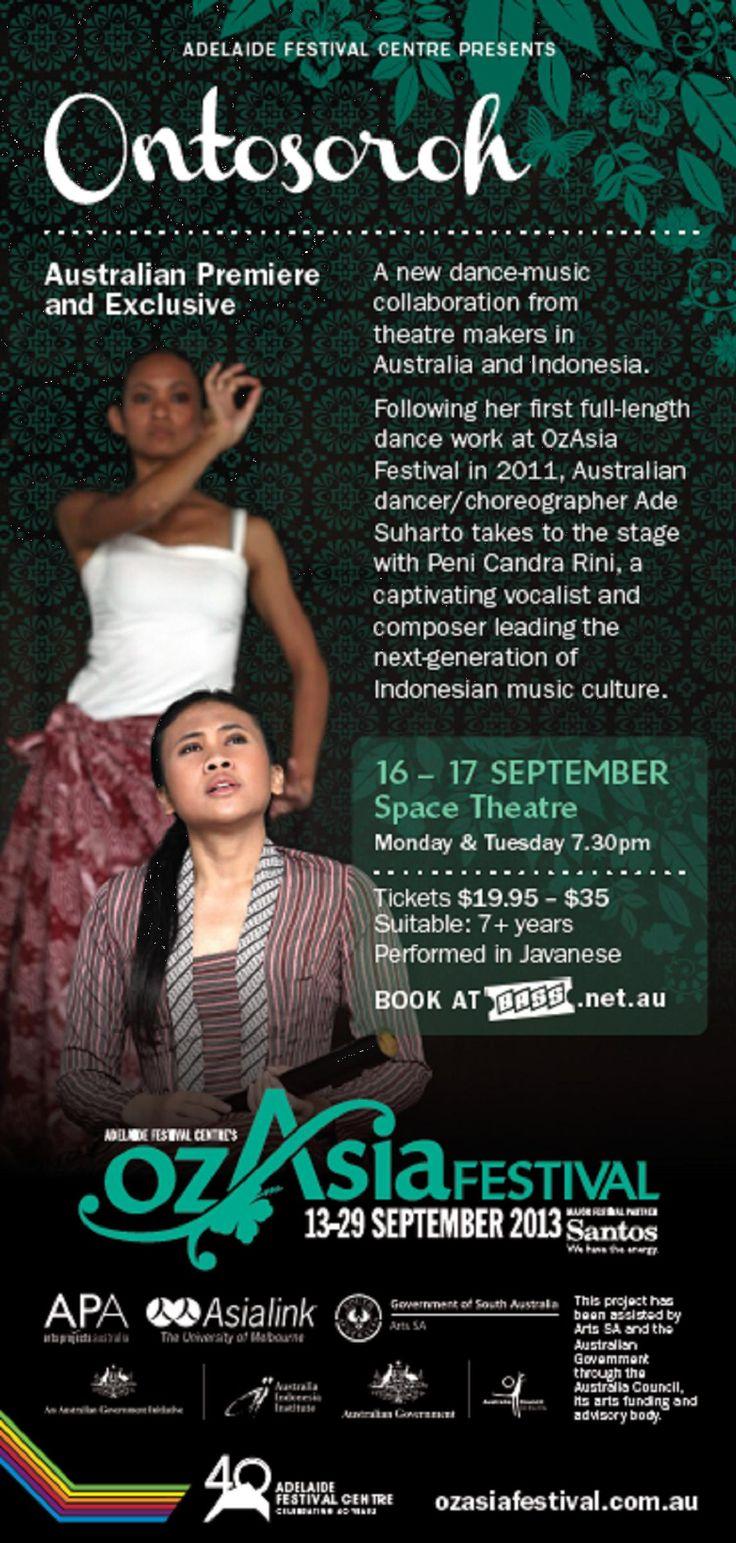 ONTOSOROH  An Indonesian-Australian Dance/Music Collaboration between Ade Suharto & Peni Candrarini