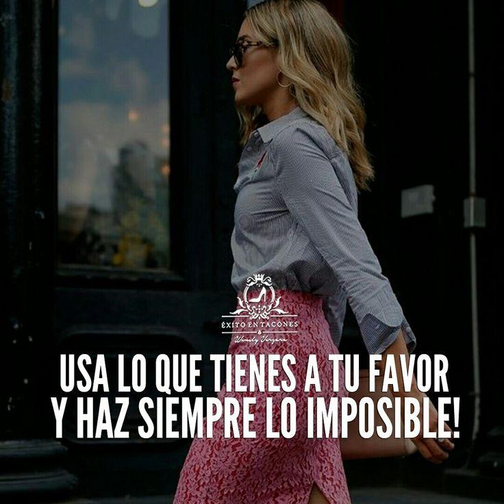 Empieza donde estás, aprovecha lo que tienes y ponte en Acción. Verás que lo que era imposible es POSIBLE!!!   -WV-  Síguenos por Instagram @exitoentaconeswv   #exitoentacones #frase #motivacion #dequeestashecha #exito #liderazgo #mujerimparable #entrepreneur #bossgirl #ConstruyendounImperio #Imparable #Inquebrantable