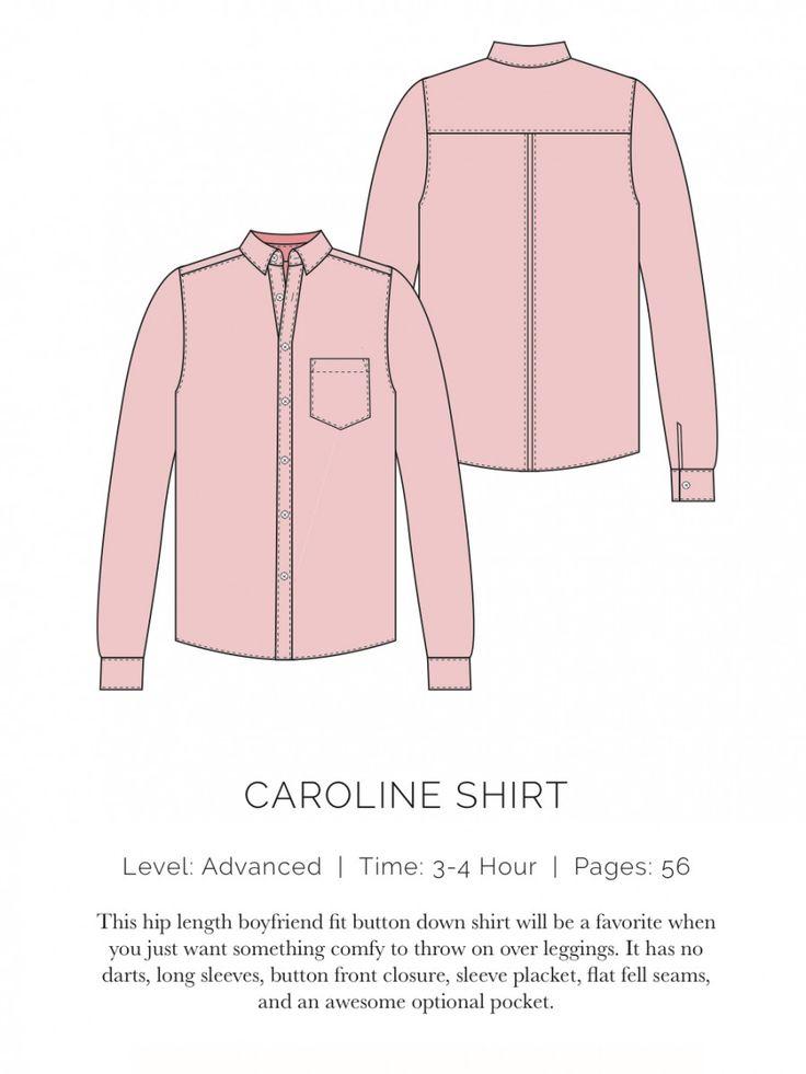 Caroline Shirt Flat  - patron gratuit spitupandstilettos.com