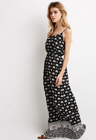Elephant Print Maxi Dress | Forever 21 - 2049257917
