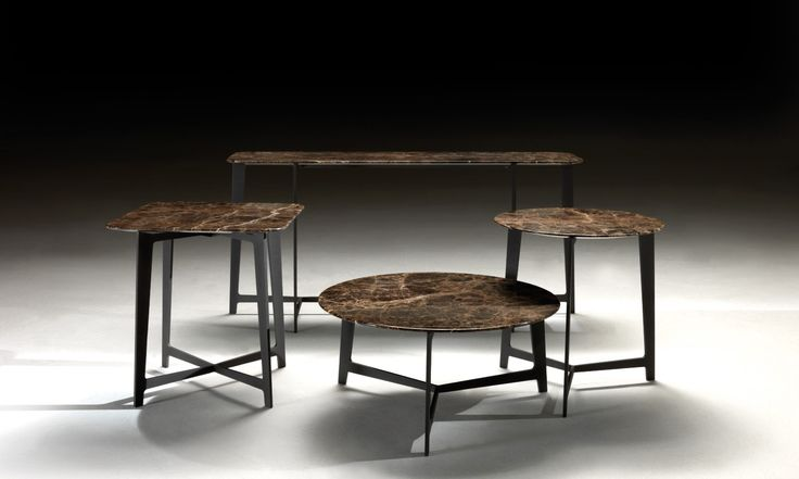 BSeries tables by BORZALINO - Metal base and marble top - #coffee tables #furniture #sofa #chair #armchair #carlobimbi