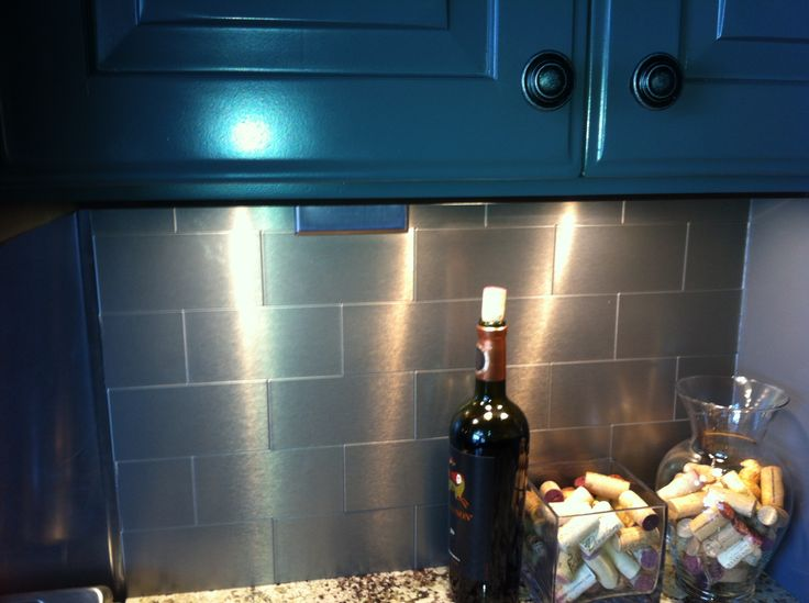 stainless steel subway tile backsplash remodeling