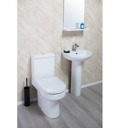 Montego Round Basin and Toilet Suite Set Gloss White UK Leeds Sheffield Bradford Sunderland West Yorkshire (Leeds-Bradford)