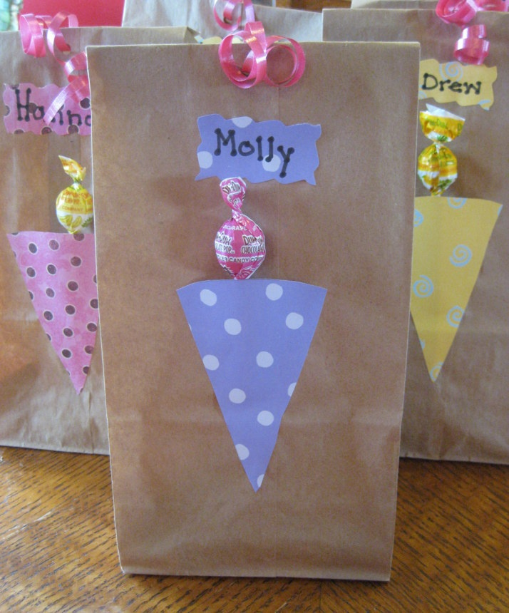 Ice Cream Party Favor Ideas