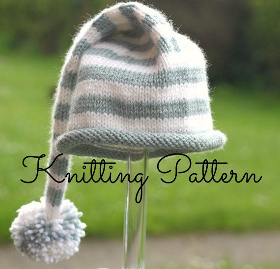 Double Knitting Hat Pattern : 441 best Knitting for Babies - Hats and Booties images on Pinterest Knittin...