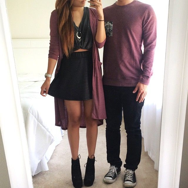 Matching couples outfit