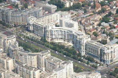 Bucharest Cityscape, Buildings Near Parliament House, Built By ...