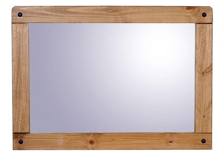 Corona Distressed Light Waxed Pine Wall Mirror