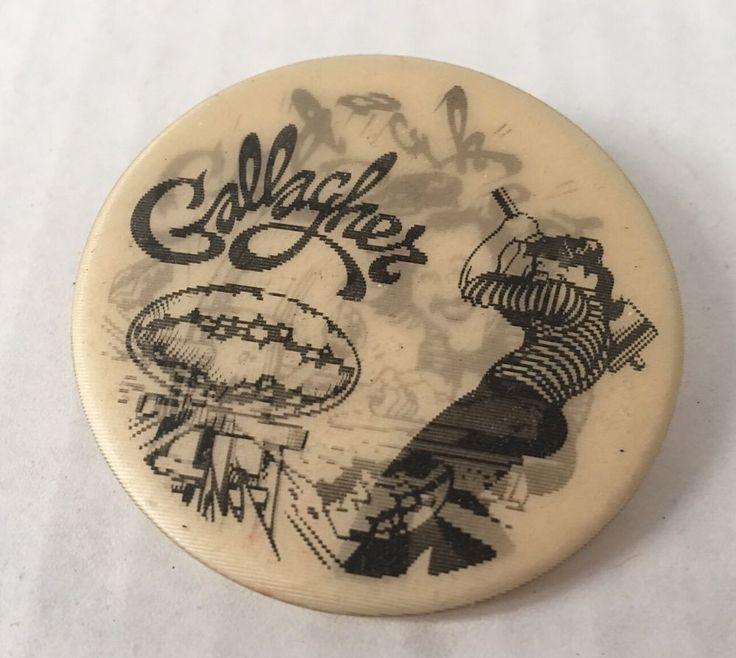 "Vintage Gallagher Comedian Lapel Pin Pinback Button 2-1/8"" Lenticular HTF  | eBay"