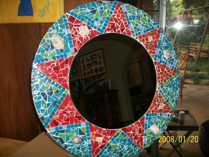 Sun mosaic mirror