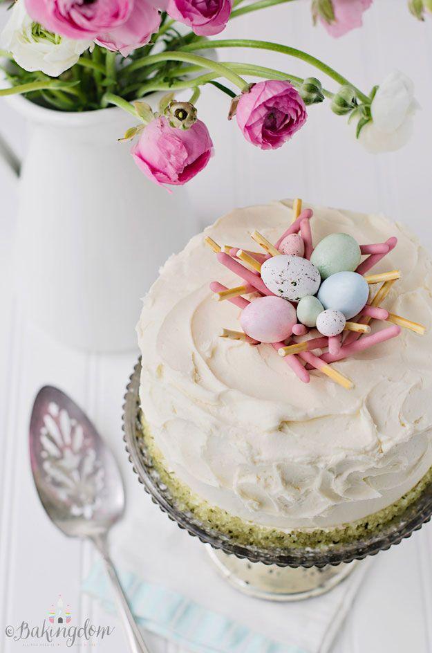 Elegant Checkerboard Easter Cake