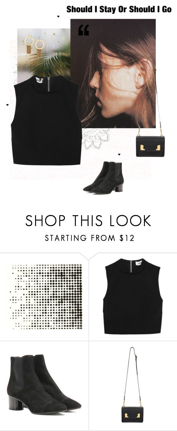 """""""You've Got a Mind of Your Own"""" by falconry ❤ liked on Polyvore featuring Tim Holtz, Elizabeth and James, Isabel Marant, Sophie Hulme, Stephanie Kantis, black, Faces and RandomFaces"""